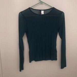 Net H&M small see through shirt